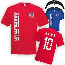 Name /& Numéro S M L XL XXL F Enfants T-shirt maillot YOUGOSLAVIE JUGOSLAVIJA Incl