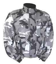 Kt019 Blouson moto quad treillis gris camouflage militaire MARPAT urban