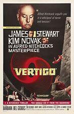 HOME Muro Stampa-VINTAGE MOVIE FILM POSTER-VERTIGO-A4, A3, A2, A1