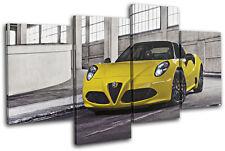 Alfa Romeo 4C Spyder Exotic Sports Cars MULTI LONA pared arte Foto impresion
