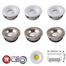 5er 10er Set 3W LED Einbaustrahler Mini Spot Lampe COB Einbauleuchte Einbau