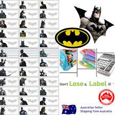 Batman hero kids Personalised Name Label preschool lunchbox water proof stickers