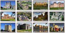 FRIDGE MAGNET - UK CASTLES --- (Various Designs) - Large British England