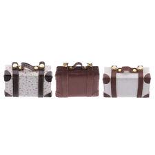 1/6 Scale Dolls House Miniature Vintage Suitcase Luggage Cases Dollhouse Decor