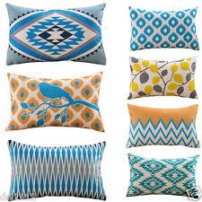 Geometric Print Pillow Cases Home Decor Cafe Sofa Car Bedroom Cushion Case Cover