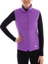 CMP Down Vest Quilted Waistcoat Gilet Purple Ultra Lightweight Zipper Teflon