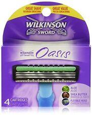 Wilkinson Sword Oasis Razor Cartridges Fits Tech 3 Aloe & Shea Butter Flexible