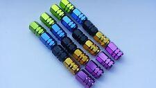 AUTO Cerchioni Pneumatico Aria Tappi Valvola Hexagonal Alluminio Metallico 4pk