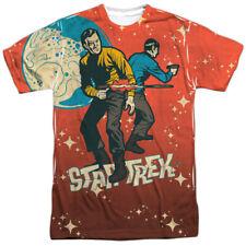 Star Trek Teamwork (Front Back Print) Mens Sublimation Polyester Shirt White
