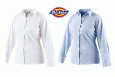 Dickies Ragazze Manica Lunga Oxford Camicia di lavoro, la stampa ricamo logo sh64300