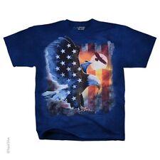 SOARING AMERICAN EAGLE-USA-TIE DYE T-SHIRT-PATRIOT-FLAG-M-L-XL-XXL