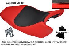 Rojo Y Negro Custom encaja Honda Hornet Cb 600 02-04 Cuero Funda De Asiento