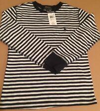 Ralph Lauren Boys Shirt Navy/White Striped W/Navy Logo