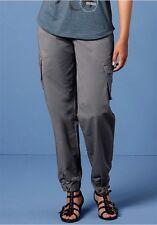 4Wards Cargohose Gr.40 NEU Damen Freizeithose Grau Hose Stretch Pattentaschen
