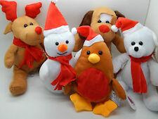 """Navidad Osos De Peluche! elegir Diseño! Hermosas! Aprox 7 """". huggables Navidad Peluche"""