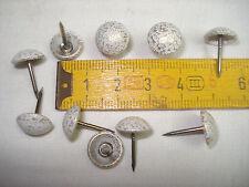 65 clous de tapissier perle fer 11 mm blanc crépi ,fauteuil, siège