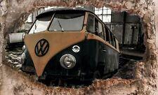 Wandbild  VW T1 Fototapete Poster XXL  Bulli Alt Hobby KFZ Auto Wrack WA315