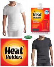 Mens Heat Holders Thermal Winter Warm Underwear Round Neck Short Sleeve Vest