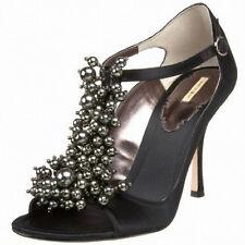 Max Studio NIB $145 Sateen Beaded High Heel  Sandals    5.5