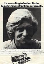 PUBLICITE  1970   PENTO  pour cheveux libres