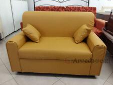 divano 2 posti ecopelle pelle con 2 cuscini salotto made in italy divani sofà