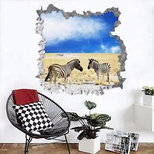 3D Prairie Zebra 842 Wall Murals Wall Stickers Decal breakthrough AJ WALL CA