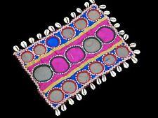Rare Kutchi Cotton Textile Antique Fabric Mirror Patch