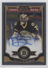 2015 O-Pee-Chee Platinum 161 Rookie Autographs Malcolm Subban Boston Bruins Auto