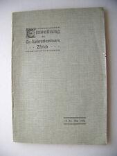 Zur Erinnerung Einweihung Evangel. Lehrerseminar Zürich 1905