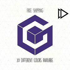 Nintendo Gamecube Logo Vinyl Decal Sticker Car Laptop - Video Game Cube Gamer