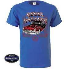 T shirt Royal azul us car v8 rythm Hot Rod &' 50 style motivo modelo Rebel Grease