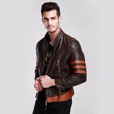 X-Men Wolverine Origins Vintage Style Brown Leather Jacket - BNWT