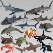 Ocean Sealife Animals Whale Turtle Shark Model Kids Educational Gift Toy