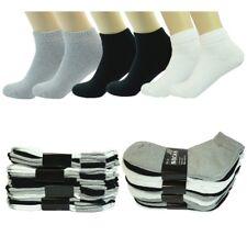Wholesale Lot Men's Plain Ankle Quarter Cotton Low Sport Socks Size 9-11 10-13