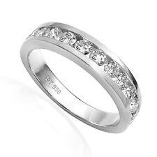 Twelve channel set Diamond Wedding Band Ring in Platinum 950 #R1880.