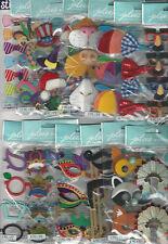 U CHOOSE  Assorted Jolee's HATS GLASSES MOUSTACHES BOWS 3D Stickers mardi gras