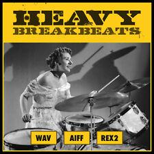 Heavy Breakbeats Drum Loops (WAV AIFF REX2) Ableton Live Cubase Logic Pro Reason