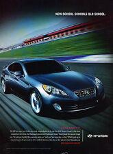 2010 Hyundai Genesis Coupe - track race -  Classic Vintage Advertisement Ad H72