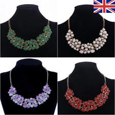Fashion Bib Coloured Ladies Jewellery Necklace Stud Statement Fashion Gold UK