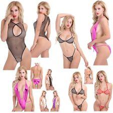 Sexy Women PVC Bikini Swinwear One-piece Beach Leotard Swimsuit Teddy Bodysuit