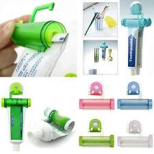Plastic Rolling Toothpaste Tube Squeezer Dispenser Partner Holder Sucker Hanging