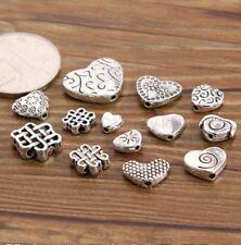 20PCS Tibetan Silver Heart Shape Loose Spacer Bead Jewelry Making DIY