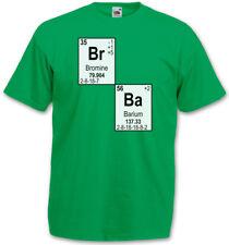 BR BA I LOGO T-SHIRT - Breaking Walter Heisenberg Meth Chemistry Mr. White Bad