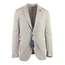New $1150 Lardini Light Gray Cotton Solid Sportcoat - (336AV13910TO)