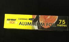 Alu-Wrap Aluminium KITCHEN/CATERING FOIL 12''-300mm x 75 meters Per Roll  AF001