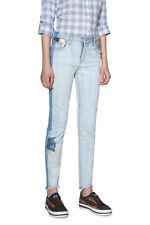 Desigual LORENE bleu clair dentelle Overlay Denim Jeans 26-34 UK 8-16 RRP? 109