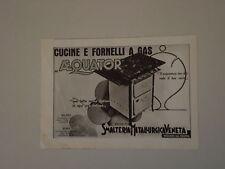 advertising Pubblicità 1938 CUCINE AEQUATOR