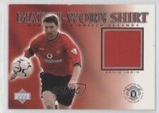 2002 Upper Deck Manchester United Legends Match-Worn Shirt DI-S Denis Irwin Card