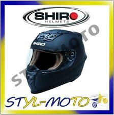 CASCO MOTO SCOOTER INTEGRALE SHIRO ABS SH-821 MONOCOLORE NERO BIANCO S M XL