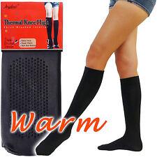 2* WARM Microfiber Fleece Knee High Socks Brush Interior Women one size Casual